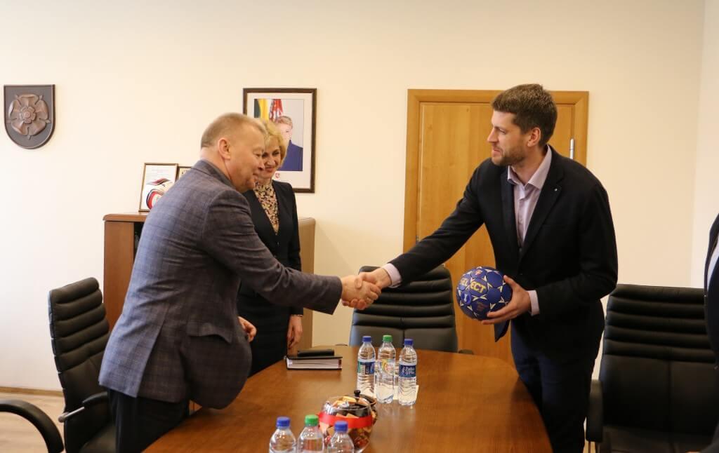 Lietuvos rankinio federacijos prezidento vizitas Alytuje
