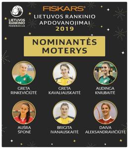 nominantės moterys